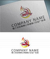 小龙虾餐饮LOGO标志