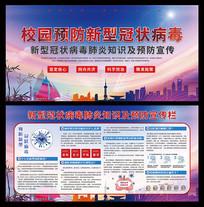 校园预防新型冠状病毒宣传栏