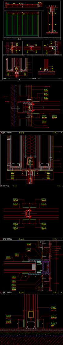 精品活动折叠门CAD施工图