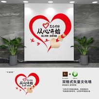 社区企业志愿者标语文化墙