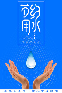水资源节约用水海报模板