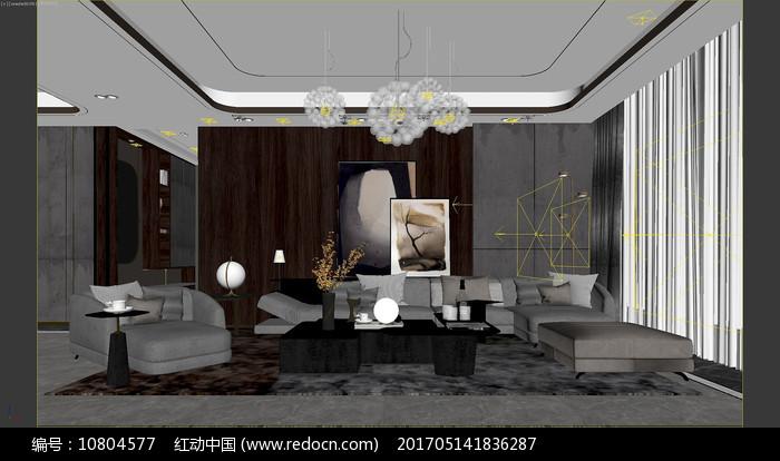 现代客厅 沙发组合图片