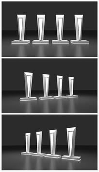 原创科技启动台设计效果图模型