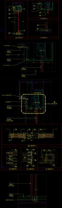 自动感应门无框玻璃门节点施工图