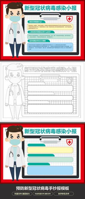 卡通预防新型冠状病毒小报