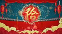 新年春节中国风倒计时新年片头pr模板