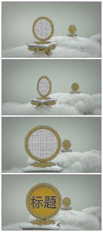 3D镜子云端相册展示片头视频模板
