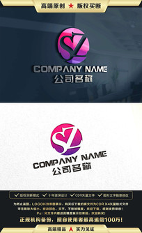 SZ标志SZ字母LOGO设计