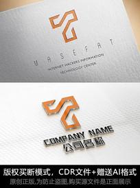 T字母logo标志字母商标设计
