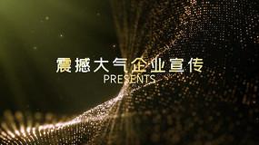 金色粒子背景企业宣传文字动画PR模板