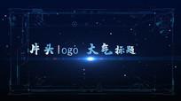 蓝色科技光线文字标题片头落版PR模板