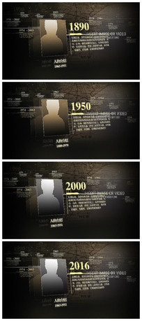 历史复古人物介绍视频模板