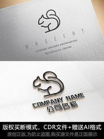 松鼠logo标志松鼠商标