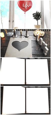 唯美爱情相册室内图文介绍视频模板