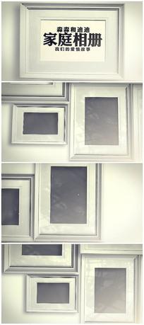 温馨唯美背景墙相册展示视频模板