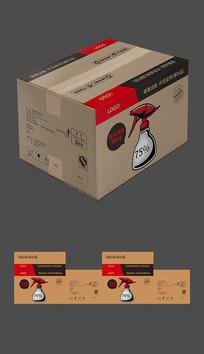 医用酒精快递箱包装设计