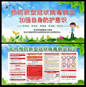 预防新型冠状病毒医院宣传展板