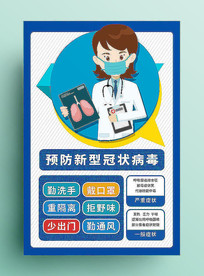预防新型冠状病毒展板