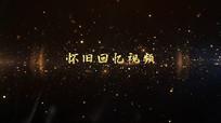 大气金色颗粒感文字标题动画pr模板