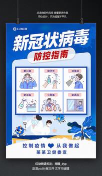 新型冠状病毒防防御社社区指南海报