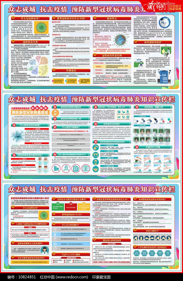 新型冠状病毒肺炎防疫户外宣传栏