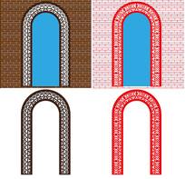 中式拱门图案