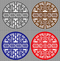 中式圆形窗户设计