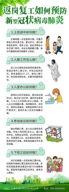 返岗复工预防新型病毒肺炎易拉宝