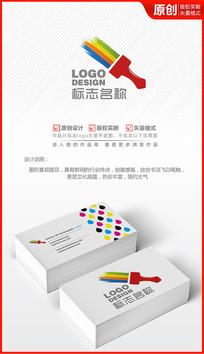 粉刷色彩缤纷七彩虹logo