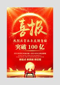 红色大气企业喜报宣传海报