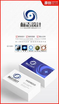 金融财富循环企业logo设计