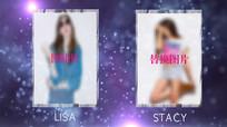炫酷时尚女孩照片展示人物介绍PR模板