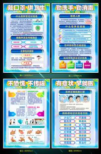 企业复工预防新型冠状病毒展板设计