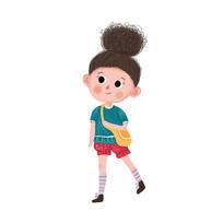 上学的女孩