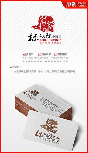 祥云印章古典中国风logo