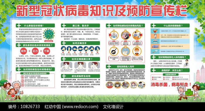 新型冠状病毒知识宣传栏图片