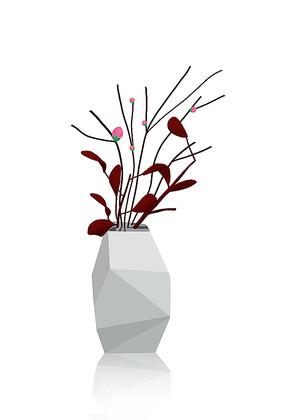 原创手绘简约简洁个性花瓶花家居装饰品
