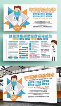 预防新型冠状病毒感染展板