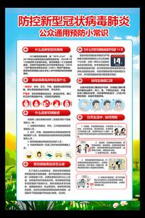 预防新型冠状病毒小常识展板