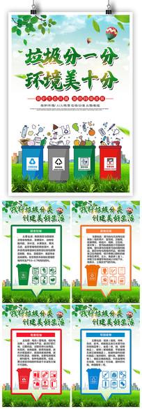 创建文明城市垃圾分类宣传挂画