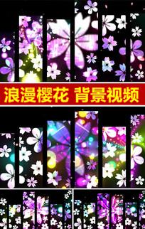 浪漫樱花背景视频樱之花舞蹈背景视频素材