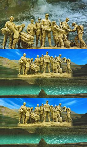 民乐边疆的泉水清又纯舞台背景视频素材