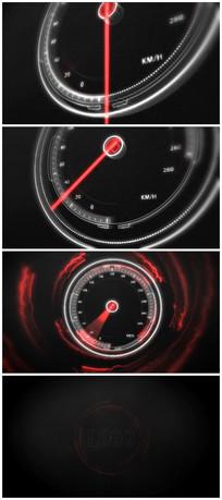 汽车仪表logo标志ae演绎视频模板