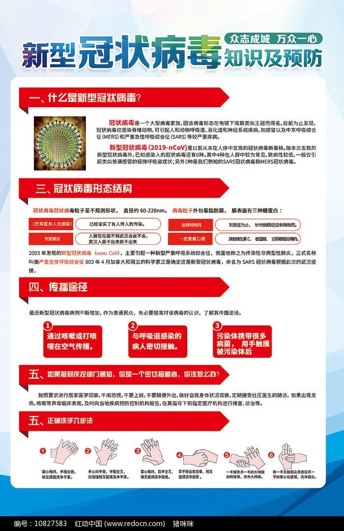 预防新型冠状病毒宣传知识医疗海报图片