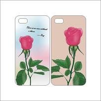 英文玫瑰花卉手机壳