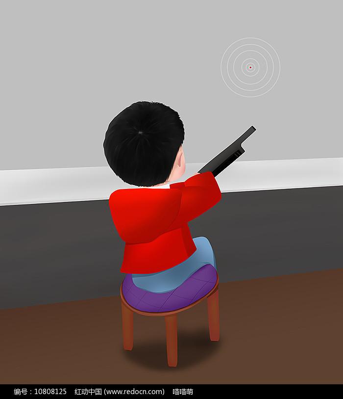 原创可爱卡通人物打枪游戏