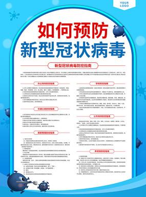 如何预防新型冠状病毒海报