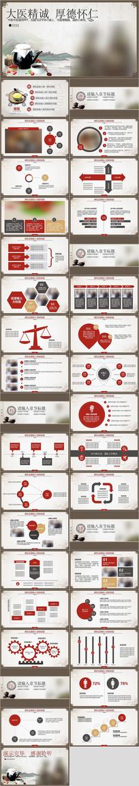 中国风中医中药PPT模板