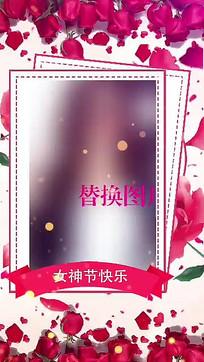 38女王女神节日快乐祝福图文展示ae模板