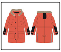 男款冬季外套设计图